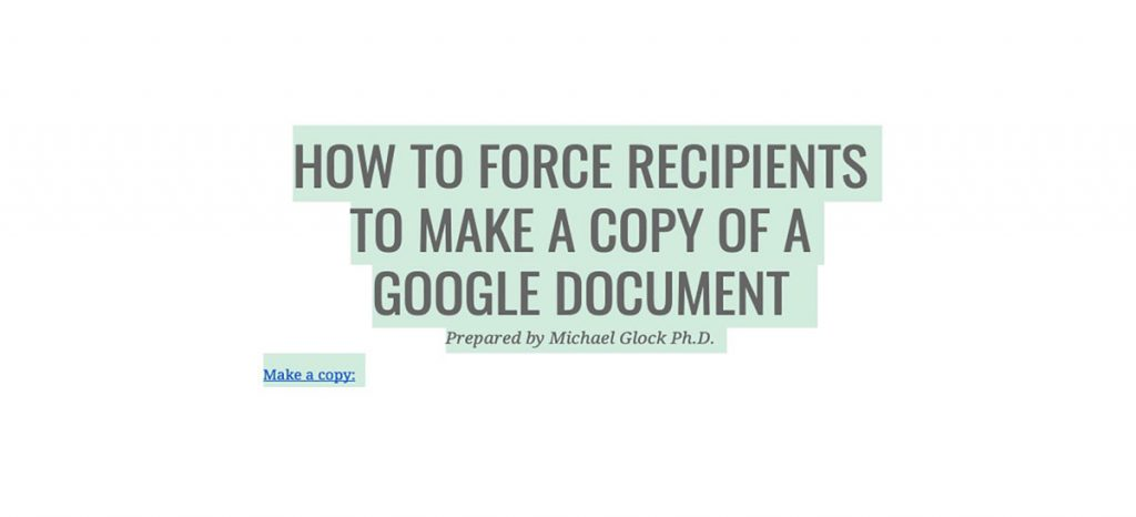 How to Make a Copy of a Google Document