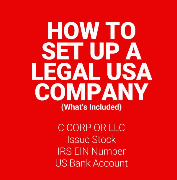 Purchase: How to Start a USA Corp/LLC without leaving home 1