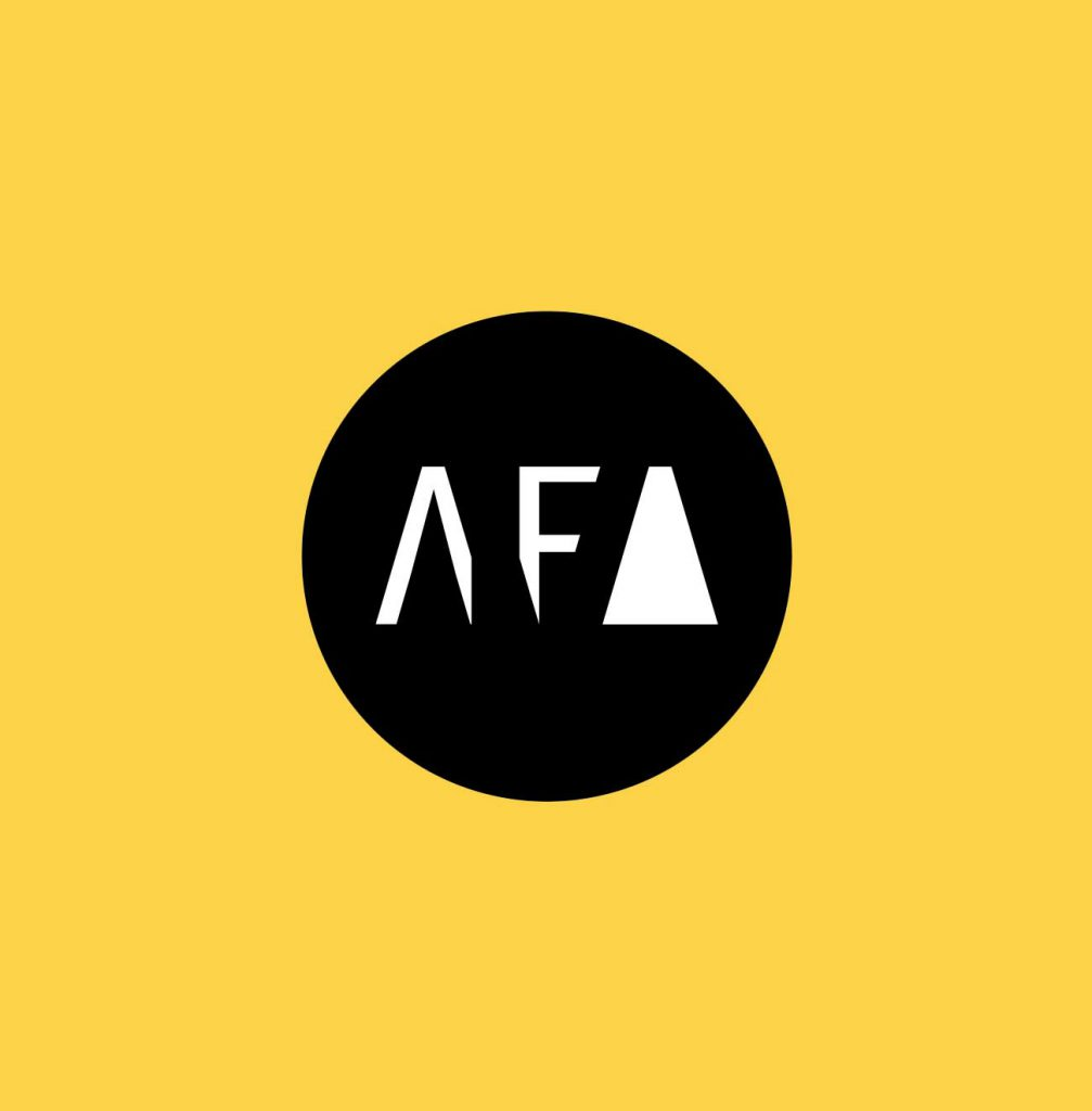 American Fine Arts Foundry Logo on Yellow Background