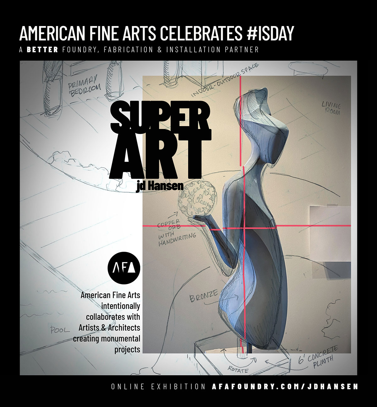 American Fine Arts Foundry's advertisement in International Sculpture Magazine's March April 2021 Special Edition